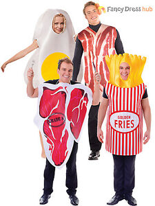 Image is loading Adult-Egg-and-Bacon-Funny-Fancy-Dress-Food-  sc 1 st  eBay & Adult Egg and Bacon Funny Fancy Dress Food Novelty Couples Humour ...