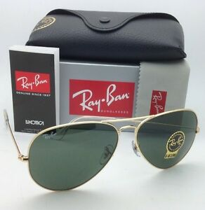 512f7a6c5be6a RAY-BAN Sunglasses LARGE METAL Aviators RB 3025 001 62-14 Gold Frame ...