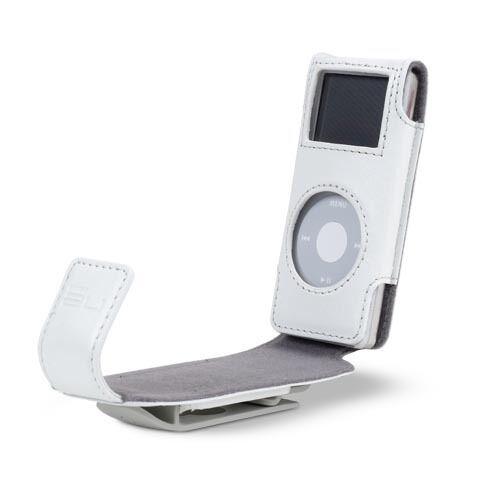 Belkin Leather Flip Case for Ipod Nano 1G 2G 1st 2nd Gen White F8Z059-wht