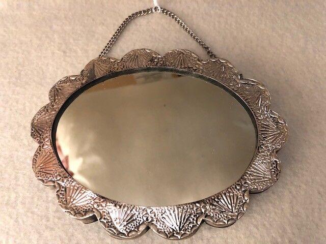 Vintage 925 Sterling Turkish Wedding Mirror - image 2