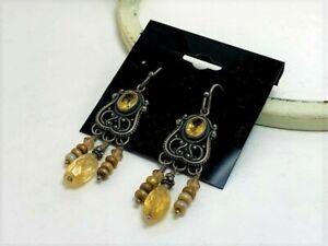 Bohemian topaz earrings