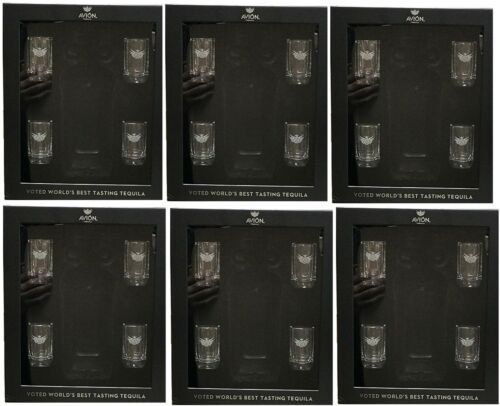 AVION TEQUILA....SET OF 24 SHOT GLASSES WITH GIFT BOXES..SQUARE SHAPED..NEW!!!