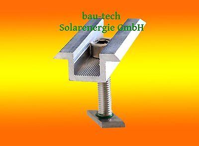 1 Stück Mittelklemme 30mm Standard inkl. Verschraubung für Solar PV Module