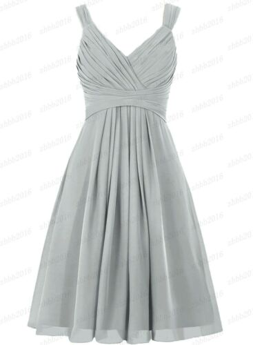 New Formal Short Evening Ball Gown Party Prom Bridesmaid Dress Stock Size 6-28