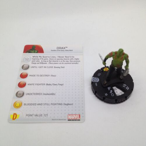 Heroclix Galactic Guardians set Drax #011 Common figure w//card!
