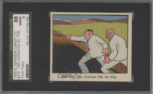 1935 Dick Tracy Caramels R41 #122 The Convicts Hit the Hay SGC 88 NMMT 8 3c7