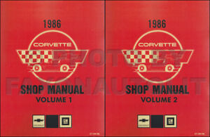 1986 corvette shop manual set chevy chevrolet repair service and rh ebay com 1986 corvette owners manual 1986 corvette owners manual free