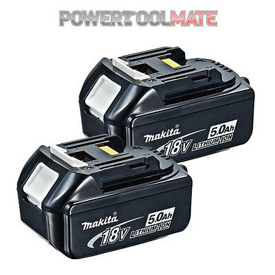 Genuine Makita BL1850 TWIN PACK 18v 5.0ah LXT Li-ion Battery with star