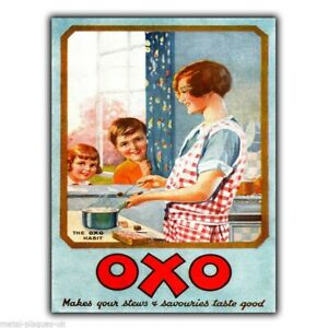OXO Vintage Old Retro Advert METAL WALL SIGN PLAQUE Kitchen poster print 1928 a5