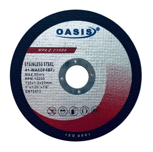 OASIS Cut Off Wheels 5 Inch Grinder Cutting Disc 25 Pack Metal Cutting Wheels