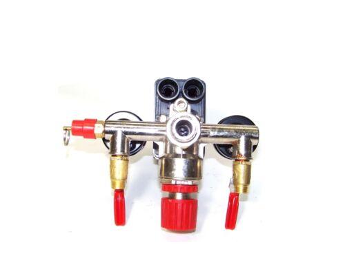 Automatic Pressure Switch Manifold Regulator Gauges Valves for Air Compressor