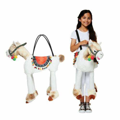 Plush Soft Llama Ride on Costume Decorative Colourful Rug Pom Poms 3-8 Years