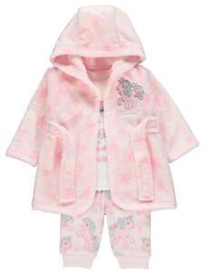 Bambine-My-Little-Pony-Rosa-Unicorno-Pigiama-e-Vestaglia-Set-0-24-Mese
