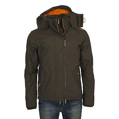 Superdry Herren Reißverschluss Kapuze Arctic Windjacke Jacke Mantel Armeegrün   eBay