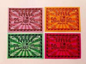 OPPURG-DORFGEMEINDE-NOTGELD-25-2x-50-75-PFENNIG-1921-NOTGELDSCHEINE-12656