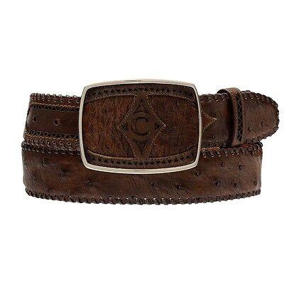 Genuine Ostrich Cuadra Men Belt made by Cuadra Boots