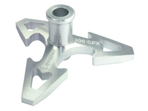 Microheli Blade 300 CFX Silver CNC Aluminum Swashplate Leveler MH-SL0700