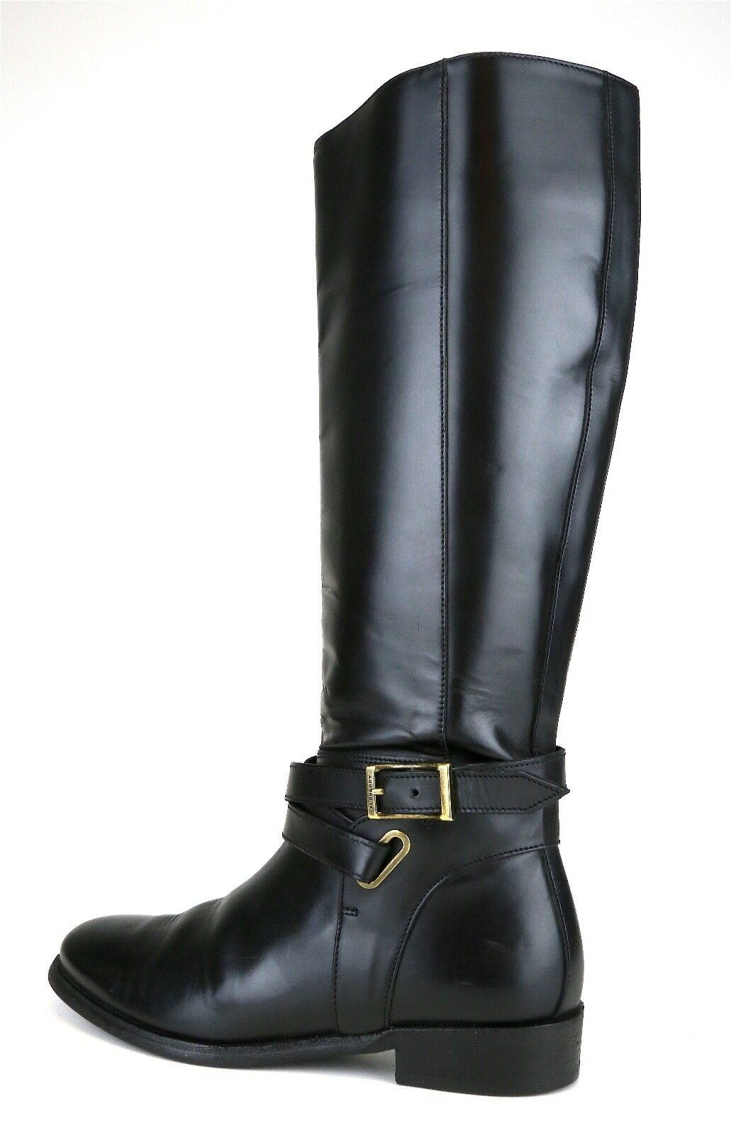 Burberry Burberry Burberry Adelaide Bridal Leather Riding Boots Black Women Sz 38 EUR 5029  1b0780