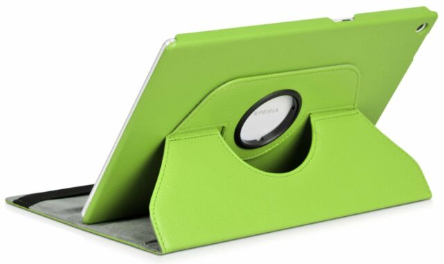 """COVER + GLASS TEMPERED SONY XPERIA TABLET Z2 10,1"""" SWIVEL 360º GREEN"""