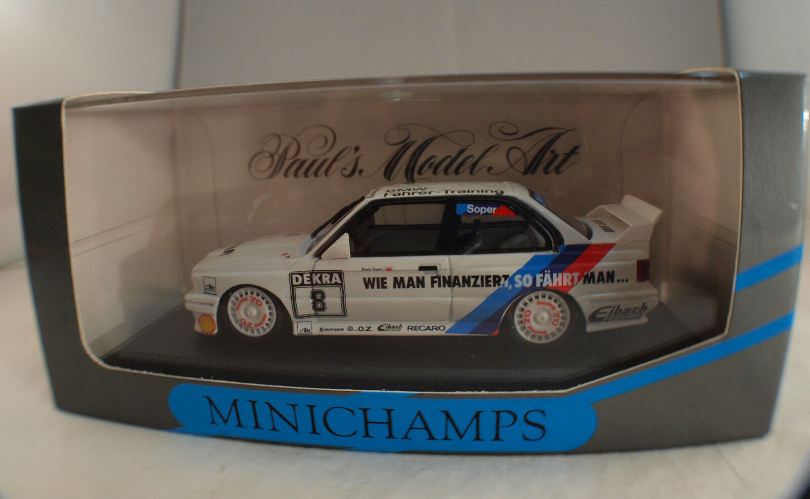 Minichamps Nr 2010 BMW M3 Team  Bigazzi Soper  1 43  8 inbox en boîte