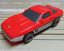 für Slotcar Racing Modellbahn --  Corvette mit Tomy Chassis !