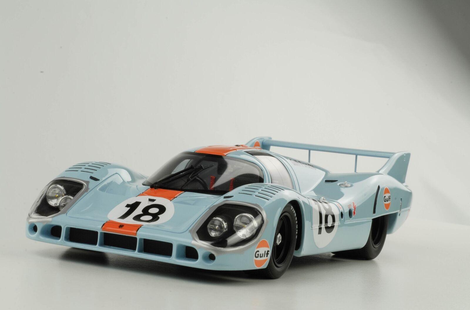 Porsche 917 LH Gulf 24h Le Mans 1971 Rodriguez Oliver 1 18