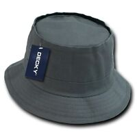 Charcoal Gray Fisherman's Fishing Sun Bucket Safari Boonie Cap Hat Caps Hats S/m
