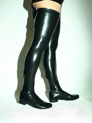 Promotion ! Stiefel flach latex  37 38 39 40 41 42 43 44 45 46 47 48 1192