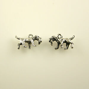 5 Lead Free Antique Silver Tone Pewter Charms Ghost