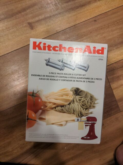 KitchenAid Attachment KSMPRA Pasta Roller & Cutter 3PC BRAND NEW FAST SHIPPING