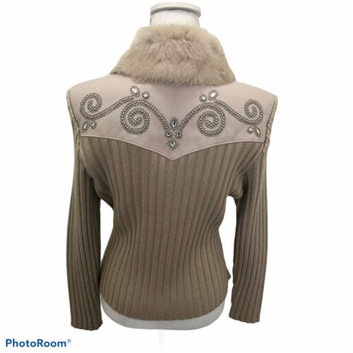 Cripple Creek Womans Western Jacket Soft Fur Leath