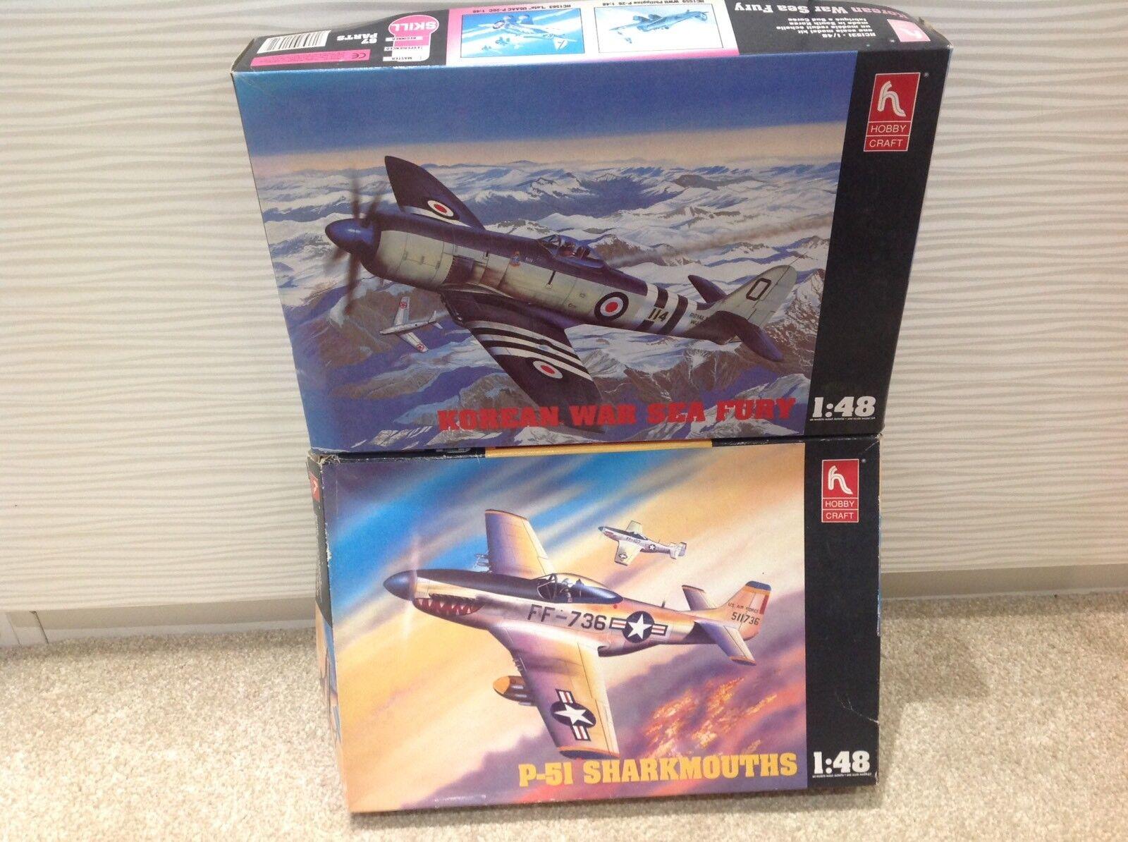 Sea Fury p-51 Sharkmouths    KOREAN WAR  HOBBY CRAFT  1 48 Model Kit.