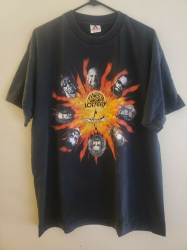 Vintage WCW West Virginia Lottery T Shirt XL Hulk