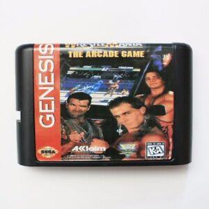 WRESTLING-MANIA-il-gioco-arcade-16-bit-SEGA-MD-game-card-per-Sega-GENESIS