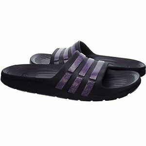 27cacb41a1621 Image is loading Adidas-Duramo-Slide-Kids-Purple-Holiday-Beach-Sandals-