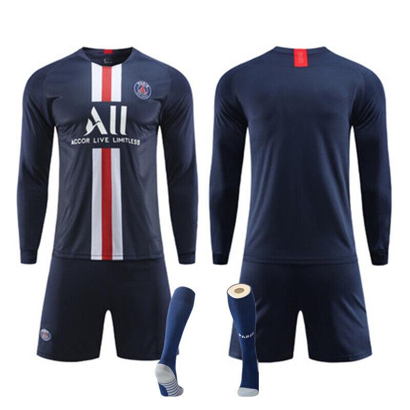 Custom Youth Football Kit Kids Boys Long Sleeve Soccer Training Jerseys Outfit