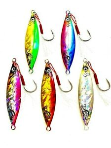 x-5-Micro-Jigs-60g-Knife-Leaf-Butterfly-Jigs-Snapper-Kingfish-Tuna-Jigging-Reef