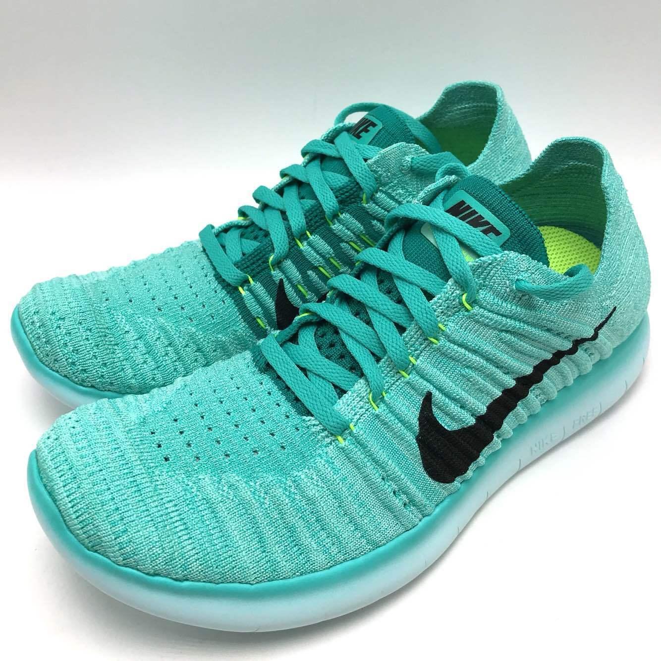 Nike Free RN Flyknit Women's Running  Hyper Turq Black-Volt-Rio Teal 831070-307