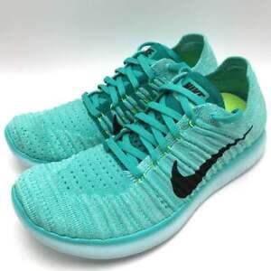 d99f82f43c90 Nike Free RN Flyknit Women s Running Hyper Turq Black-Volt-Rio Teal ...