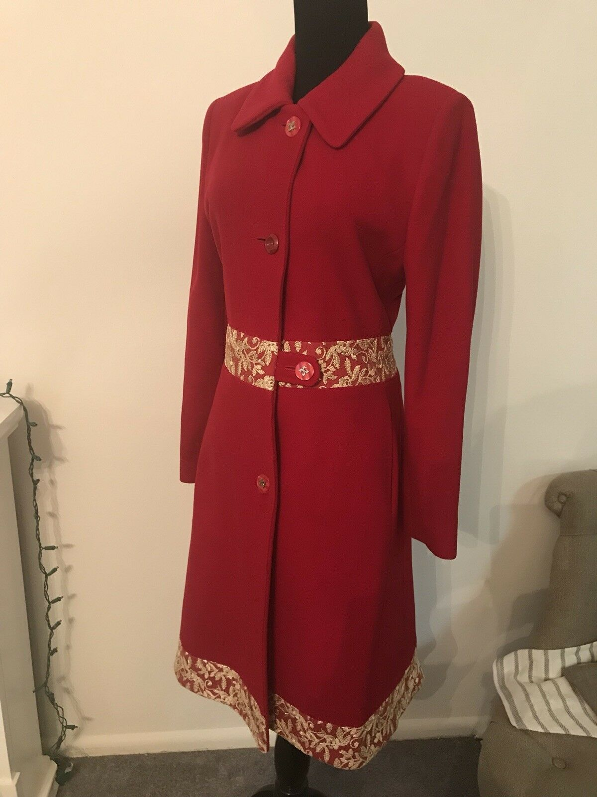 Red Coat With gold Lace