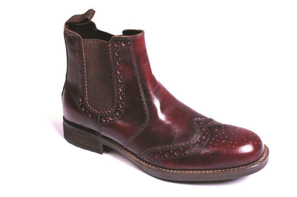 Hombre Hombre Hombre Catesby CX07 Bordo Chelsea Brogue Dealer botas Talla Talla 7-12 6c75a4