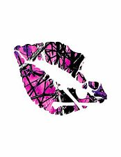 Lips Skull  Decal Muddy Girl  Camouflage