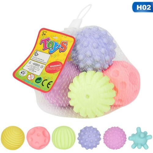 4//6Pcs Baby Soft Massage Sensory Development Educational Puzzle Ball Sound