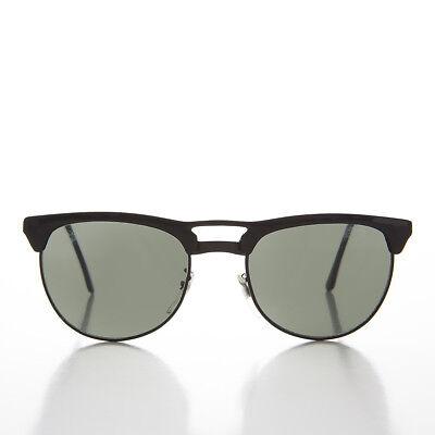 Schwarz Doppel Brücke Hupe Hutkrempe Retro Sonnenbrille - Willis Billigverkauf 50%
