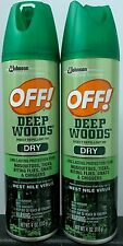 OFF! Deep Woods Dry - Insect Repellent - 2 4-ounce Spray Cans - 25% DEET