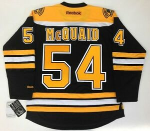 innovative design 29d56 68297 Details about ADAM MCQUAID BOSTON BRUINS REEBOK PREMIER HOME JERSEY NEW  WITH TAGS