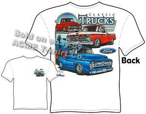 53 54 55 56 F-100 Ford T Shirts 64 65 66 Truck Shirts Pickup Sz M L XL 2XL 3XL