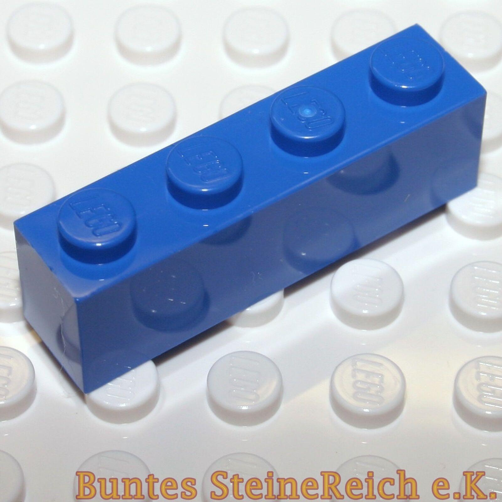 XXX) bleue LEGO Pierres 10 unités de base Briques 1x4 Blocs de construction 3010 & neufs