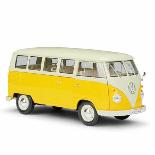 Volkswagen t1 Bus 1963 Porsche Renndienst Welly échelle 1:18 Nouveau neuf dans sa boîte