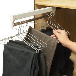 Merveilleux Image Is Loading Pull Out Closet Valet Rod Adjustable Wardrobe Clothing
